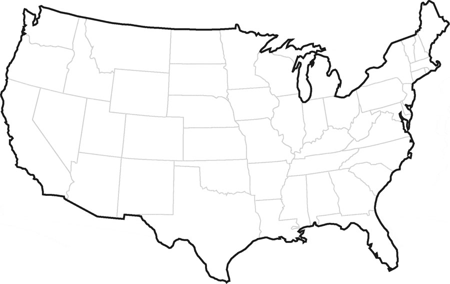 Blank United States Map With Alaska And Hawaii: Outline Map Of Us With Alaska And Hawaii At Usa Maps